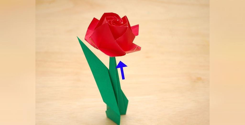 طریقه ساخت ساقه گل رز کاغذی