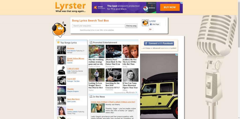 تشخیص آهنگ آنلاین با Lyrster