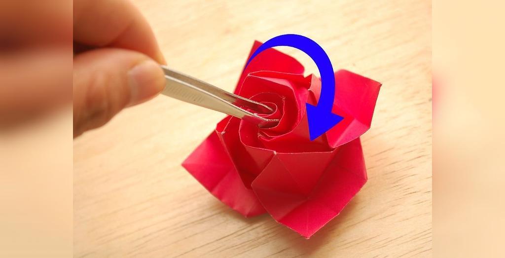 درست کردن گل رز کاغذی با گلبرگ های زیبا