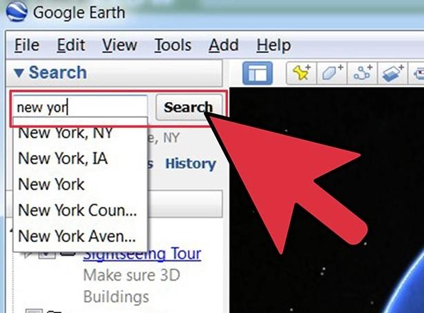 جستجو در گوگل ارث