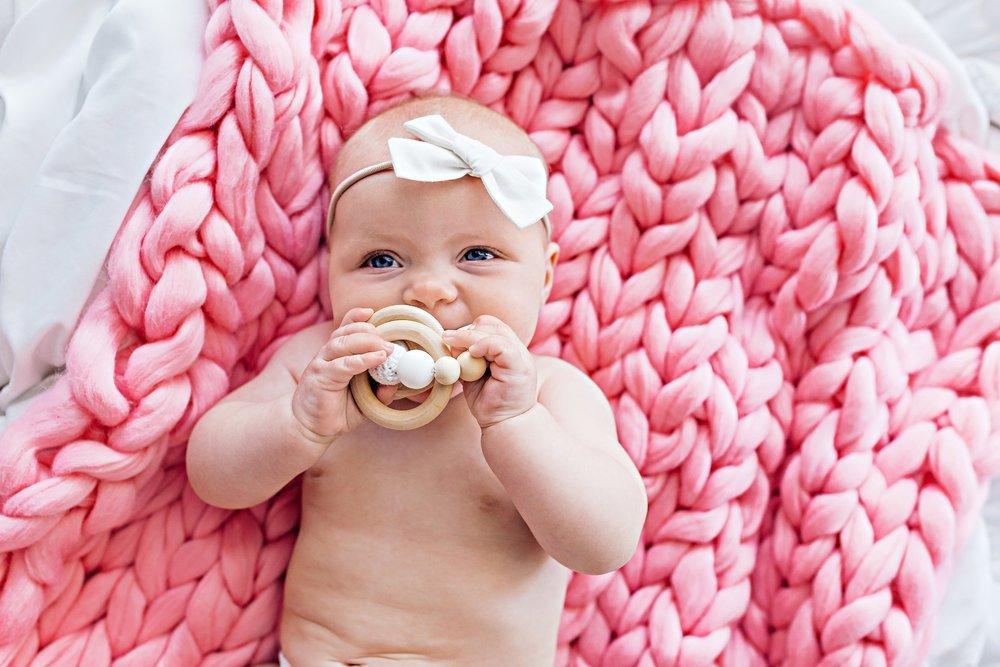 ژورنال پتوی بافتنی نوزاد با کاموا پافی