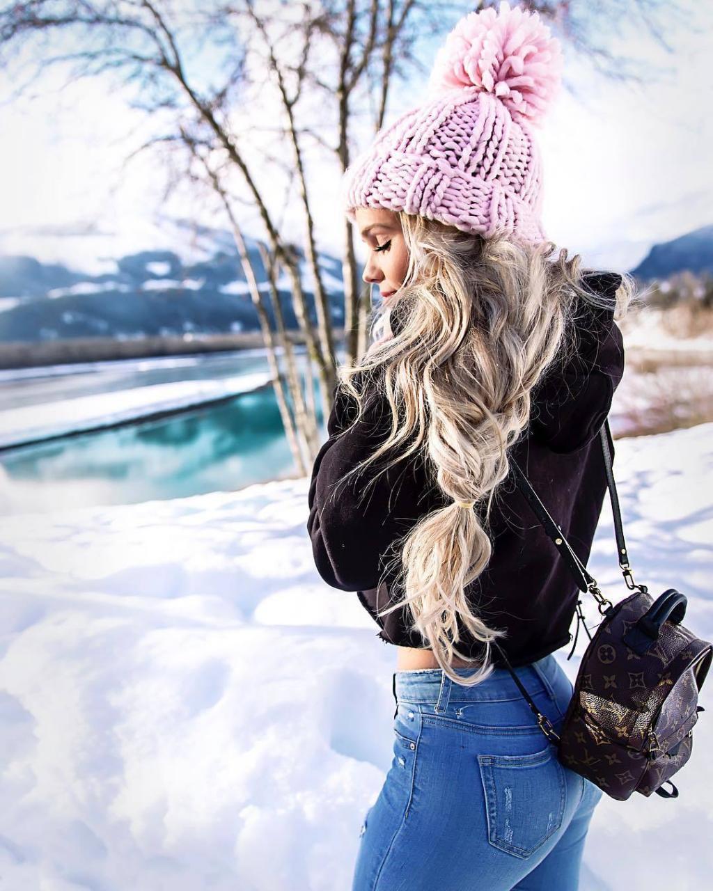 عکس زمستانی دخترانه فانتزی