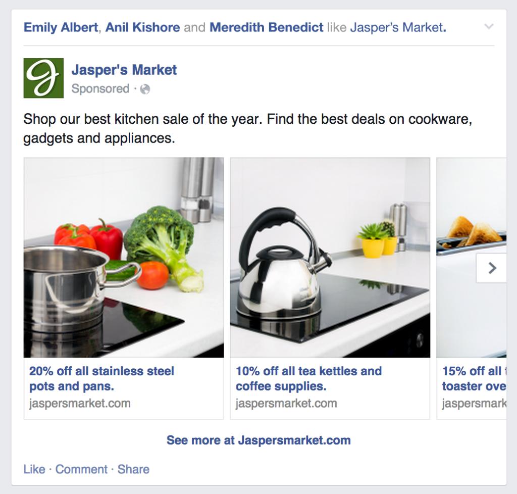 تبلیغ چند محصولی در فیسبوک چیست