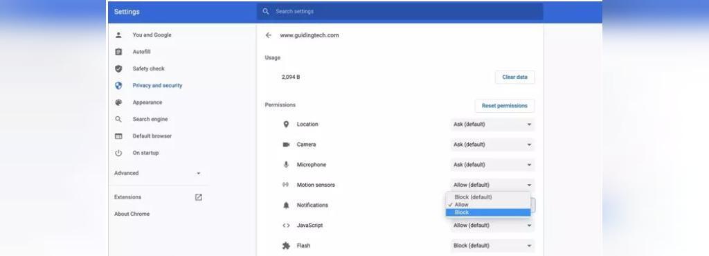 غیرفعال کردن اطلاع رسانی ها در گوگل کروم
